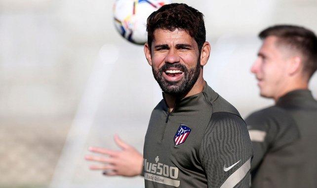 Diego Costa pendant un entraînement de l'Atlético