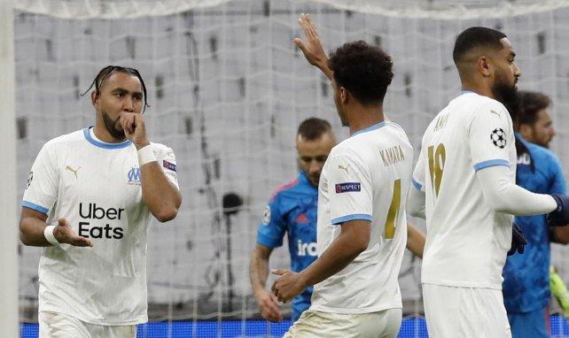 Dimitri Payet célèbre un de ses buts contre l'Olympiakos