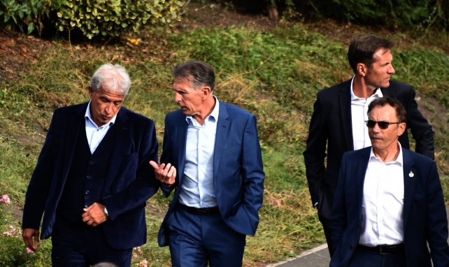 Roland Romeyer, Bernard Caiazzo, Claude Puel à l'Etrat