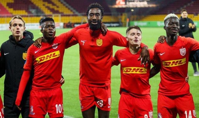 Johan Djourou en pleine célébration avec ses nouveaux coéquipiers