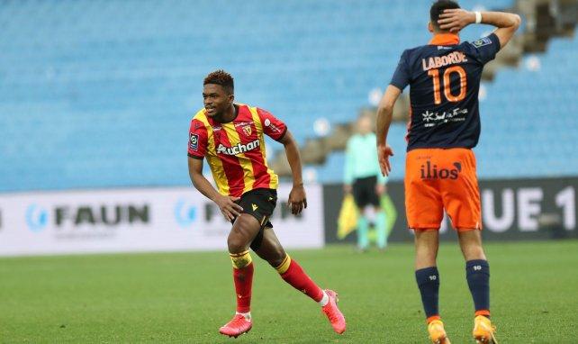 Cheick Oumar Doucouré célèbre face à Montpellier