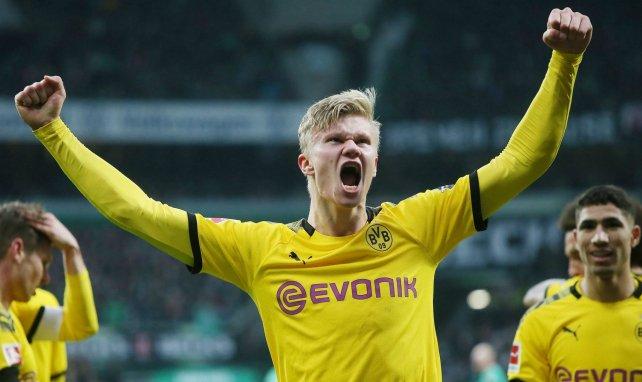 Erling Haaland célèbre sous les couleurs de Dortmund