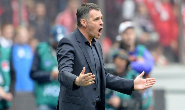 Willy Sagnol lors de son éphémère carrière d'entraîneur au Bayern