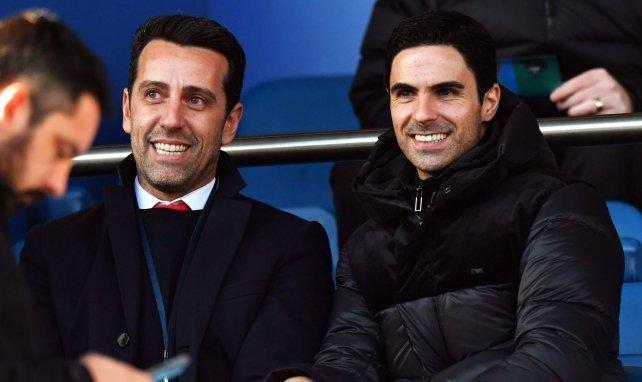 Edu, le directeur technique, et Mikel Arteta, le manager d'Arsenal