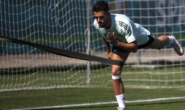 Dani Ceballos à l'entraînement avec l'Espagne aux JO