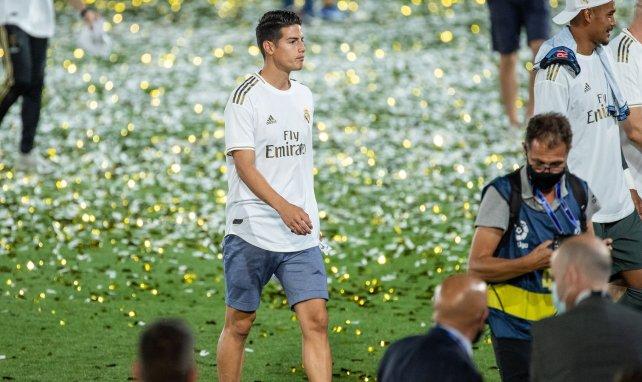 James Rodriguez un soir de titre du Real Madrid