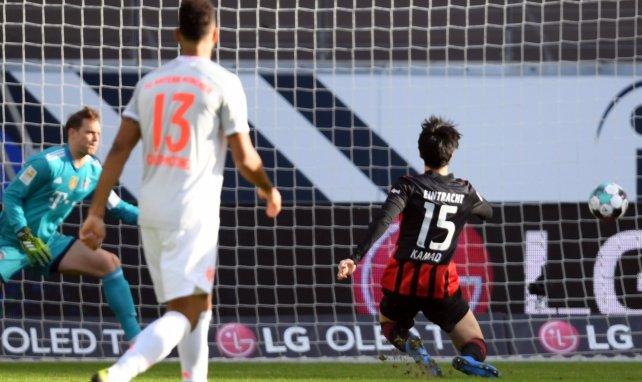 Daichi Kamada buteur contre le Bayern Munich