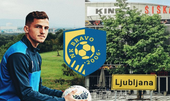 Emerick Eckert évolue sous les couleurs de NK Bravo, club de Ljubljana