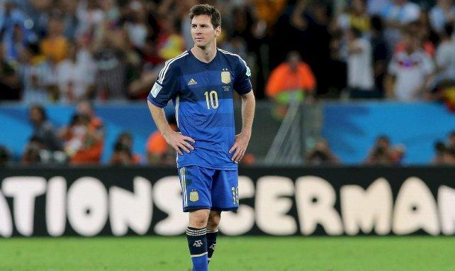 Lionel Messi en finale de la Coupe du monde 2014 avec l'Argentine