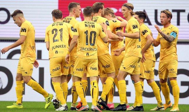 Les joueurs de Bodø/Glimt contre l'AC Milan