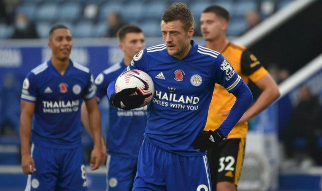 Jamie Vardy face à Wolverhampton