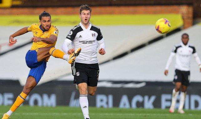 Dominic Calvert-Lewin (Everton) et Joachim Andersen (Fulham) au duel