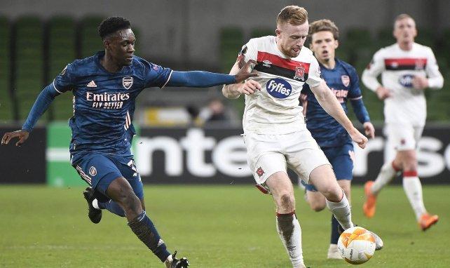 Folarin Balogun contre Dundalk en Ligue Europa