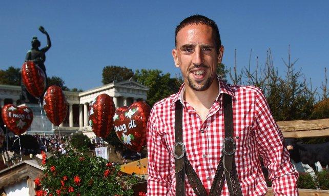 Franck Bilal Ribéry en tenue traditionnelle bavaroise en 2011
