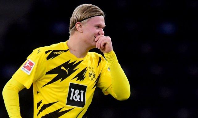 Erling Haaland avec le maillot du Borussia