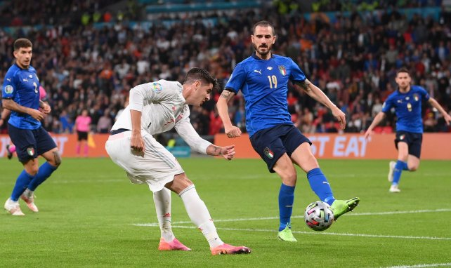 Alvaro Morata face à Bonucci
