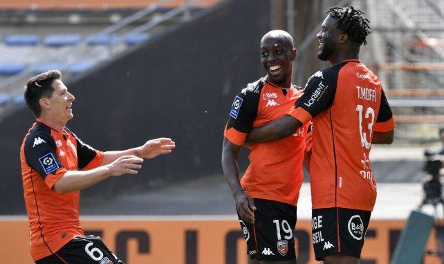 Les joueurs de Lorient contre Bordeaux