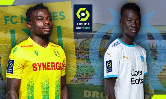 Moses Simon (FC Nantes) et Pape Gueye (OM)