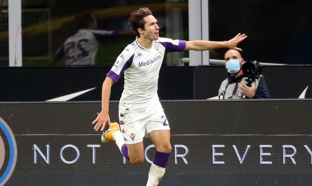 Federico Chiesa après son but avec la Fiorentina