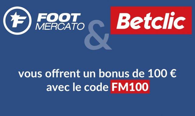 Code avantage Betclic : promo FM100