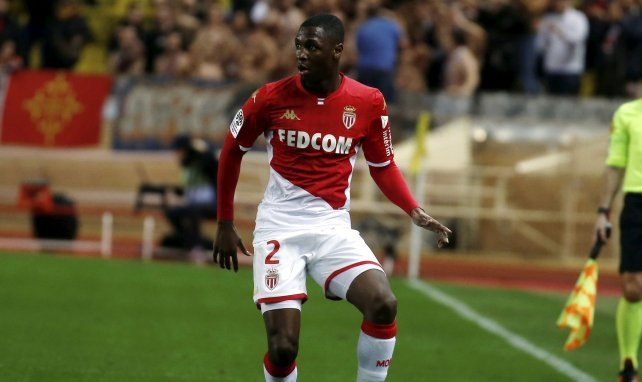 Fodé Ballo Touré en action avec Monaco en Ligue 1