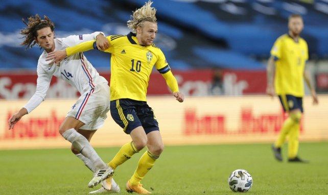 Emil Forsberg avec la Suède contre Adrien Rabiot et les Bleus