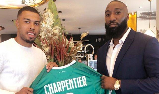 Gabriel Charpentier, ici à gauche aux côtés de son conseiller Amadou Konté, se livre pour FM