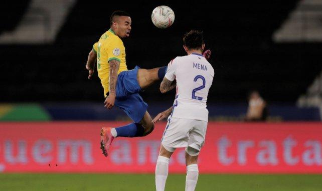 Gabriel Jesus lors de son expulsion pendant la Copa America 2021