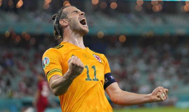 Gareth Bale sous le maillot du Pays de Galles.