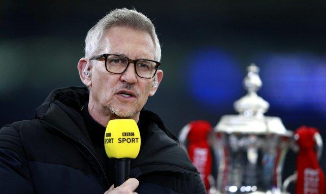 Gary Lineker, ici consultant pour la BBC, avant un match de FA Cup