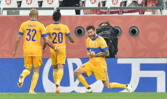 André-Pierre Gignac après son but décisif contre Palmeiras