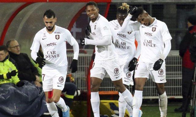 Habib Diallo fête un but face à Dijon en 2019
