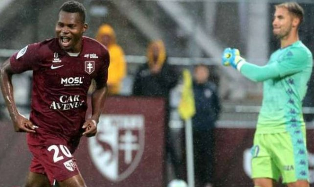 Habib Diallo buteur avec Metz face à Monaco