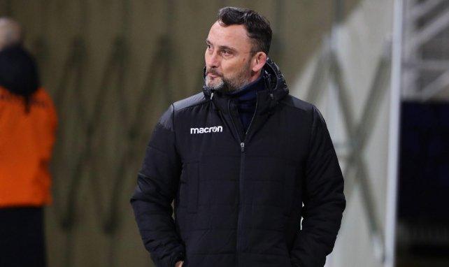 Franck Haise sur le banc du RC Lens