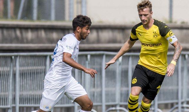 Hakim Guenouche, ici face au Borussia Dortmund de Marco Reus en amical