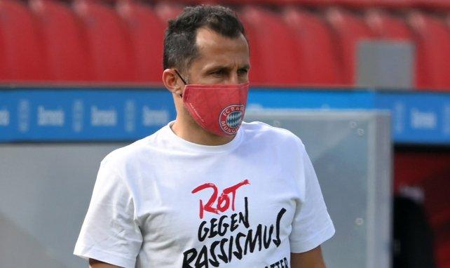 Hasan Salihamidzic lors d'un entraînement du Bayern Munich