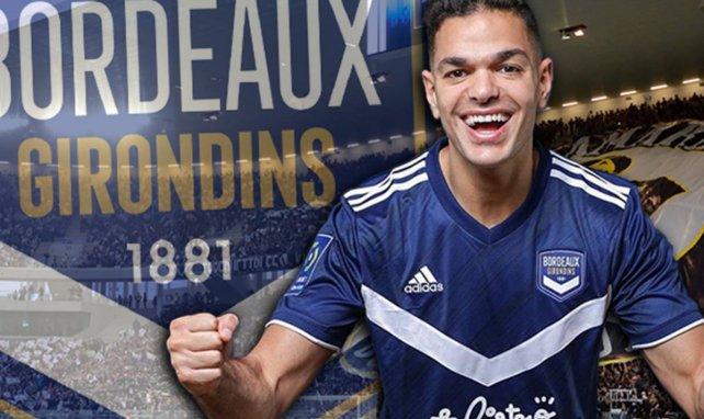 Hatem Ben Arfa avec le maillot des Girondins de Bordeaux