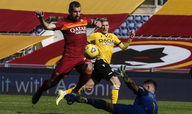 Henrikh Mkhitaryan sous le maillot de l'AS Roma