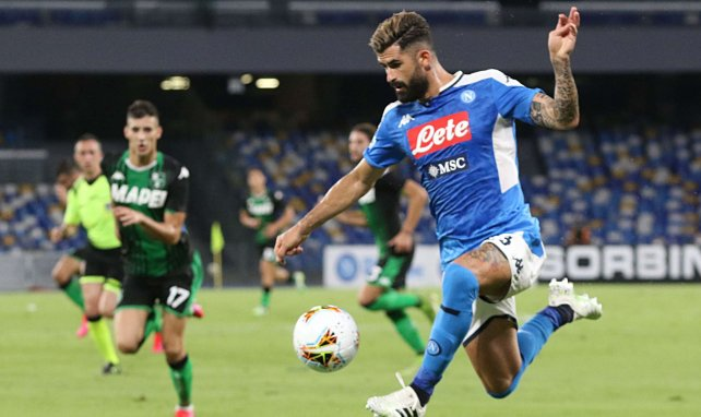 Elseid Hysaj en action face à Sassuolo