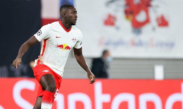 Ibrahima Konaté sous le maillot de Leipzig