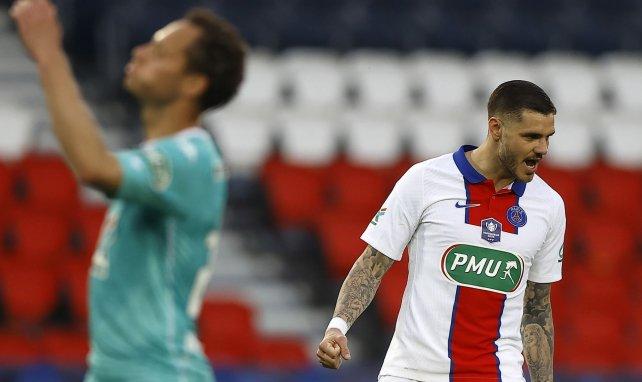 Mauro Icardi lors du match de Coupe de France face à Angers