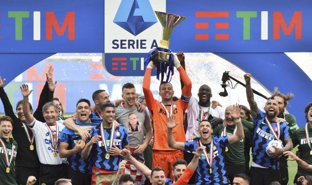 L'Inter Milan lors du sacre en Serie A