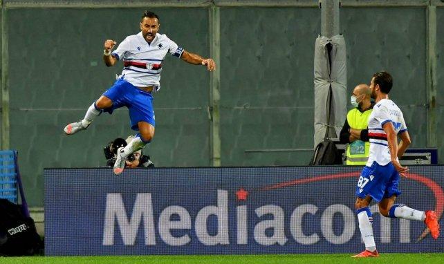 Fabio Quagliarella après un but