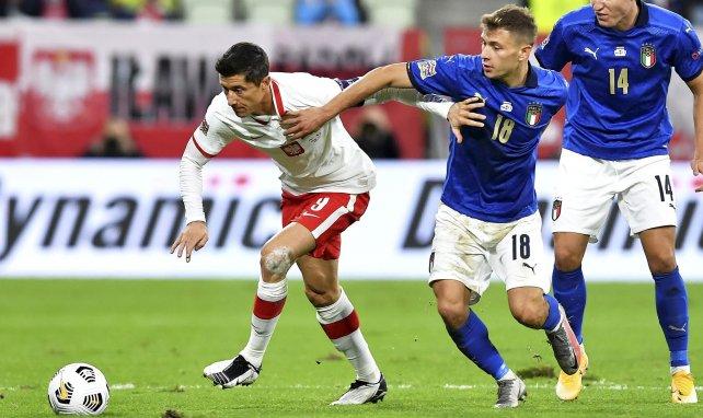 Lewandowski et Barella à la lutte dans ce Pologne-Italie