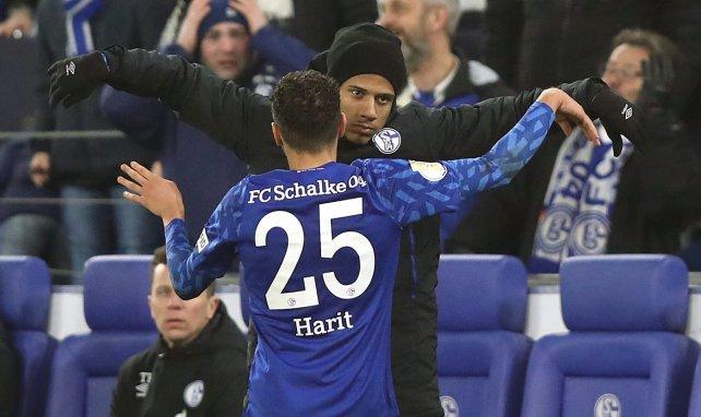 Amine Harit et Jean-Clair Todibo sous les couleurs de Schalke 04