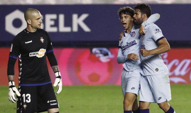 João Félix et Diego Costa après un but du Portugais
