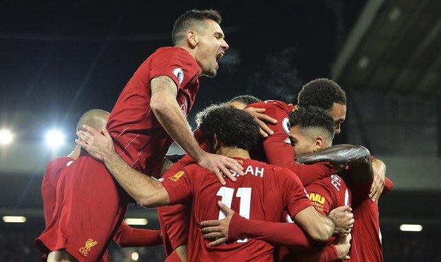La joie des joueurs de Liverpool après un but marqué
