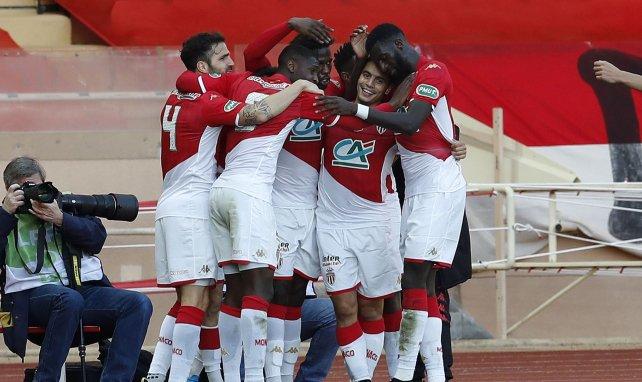 La joie des joueurs de Monaco après un but