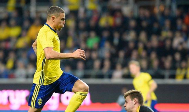 Jordan Larsson avec la Suède