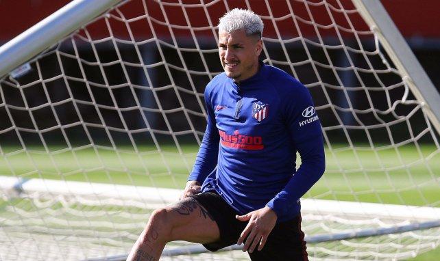 José María Giménez à l'entraînement